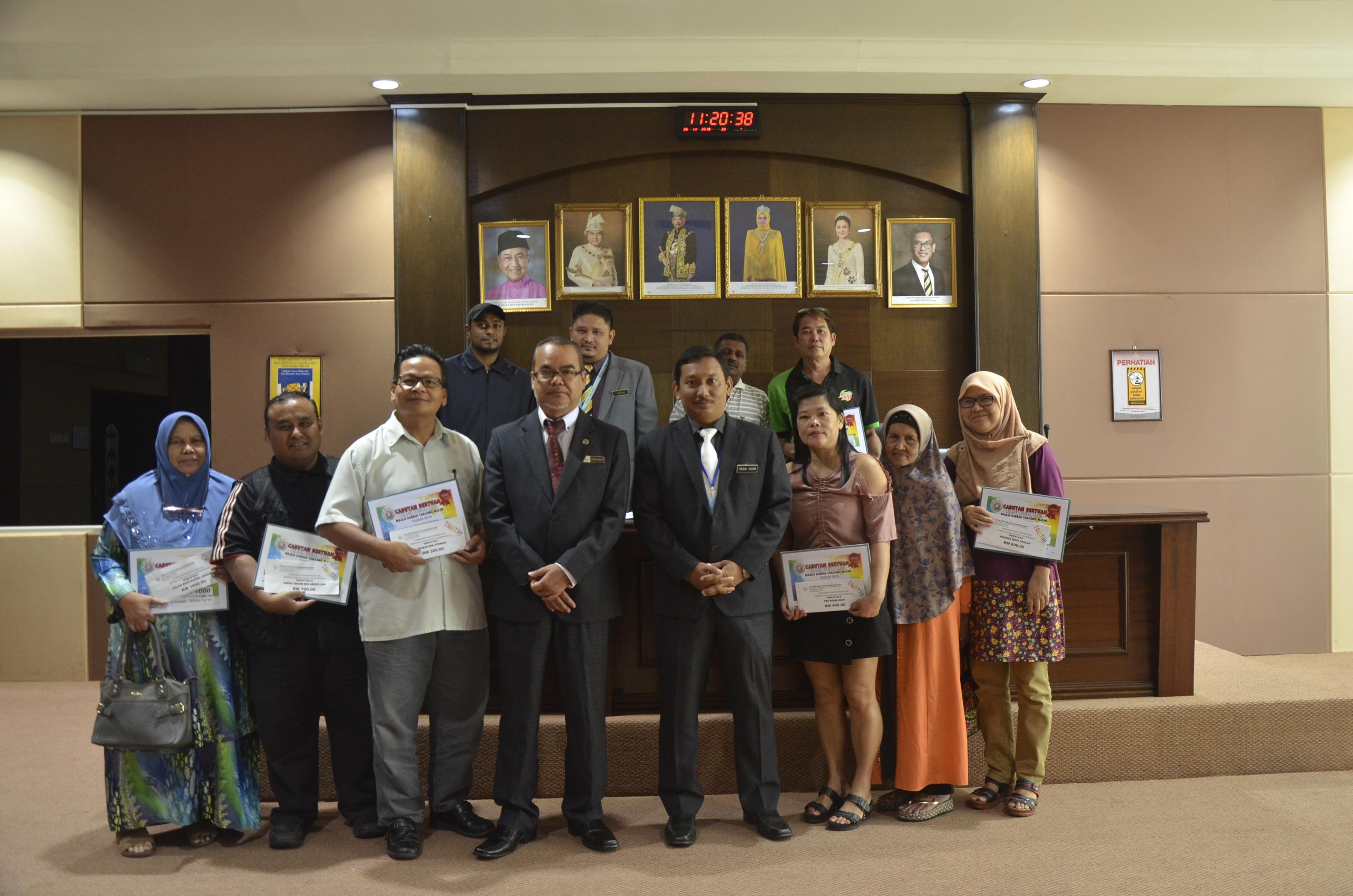 PEMENANG CABUTAN BERTUAH KEMPEN KUTIPAN HASIL MAJLIS DAERAH TANJONG MALIM TAHUN 2019