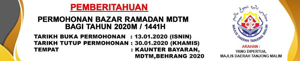 PERMOHONAN BAZAR RAMADHAN MDTM BAGI TAHUN 1441H  2020M